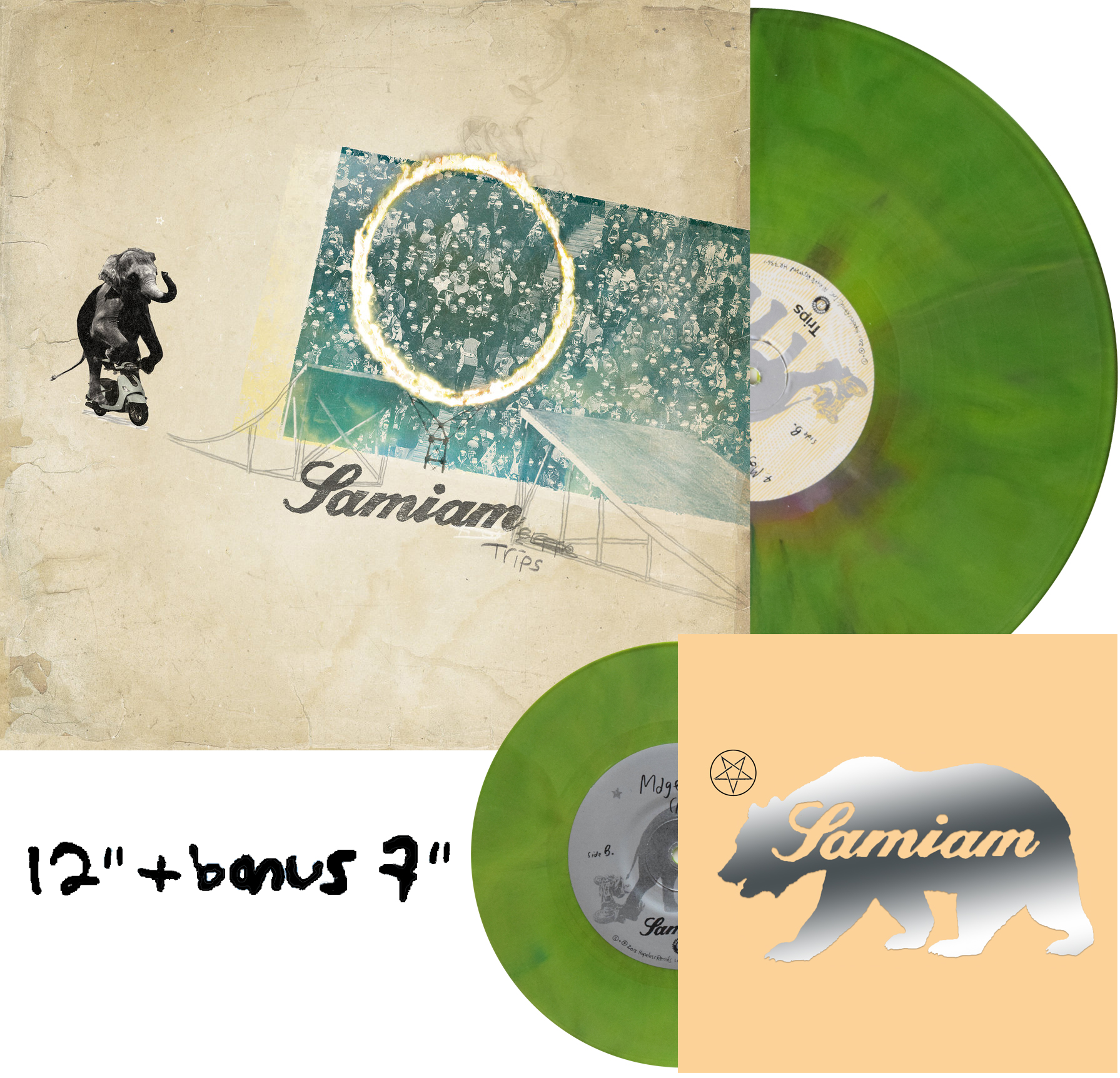 """Samiam Trips Unless You Try Record Store Day European Pressing repress Exclusive Acoustic 7"""""""