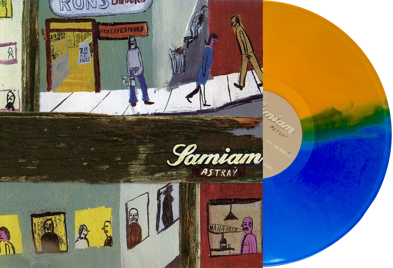 Samiam Astray vinyl 2017 repress crazy stripe blue gold split